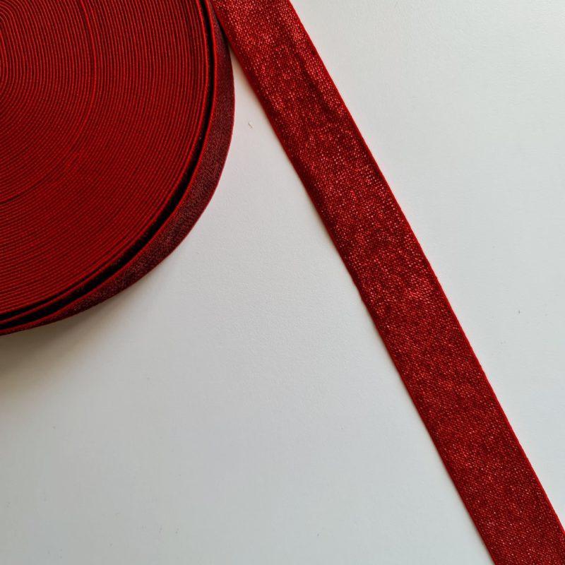 """Резинка 3 см """"Красный с красным люрексом"""""""