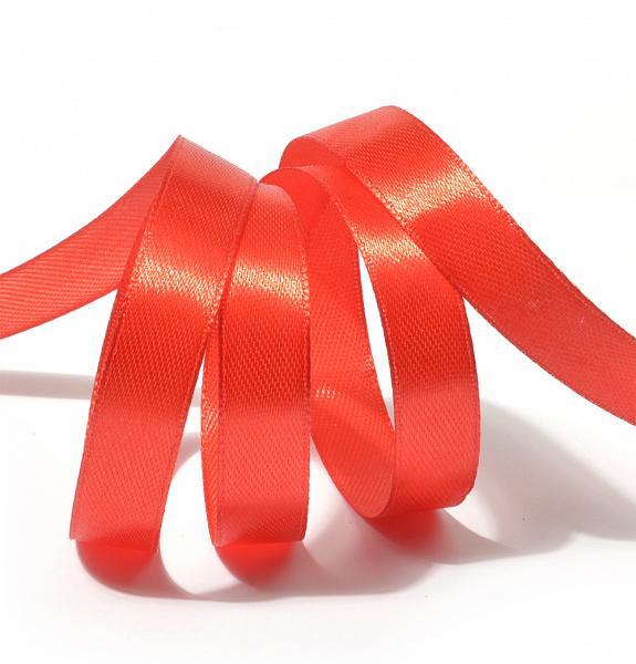 """Атласная лента 1,2 см """"Красный"""" упак. 10 м"""