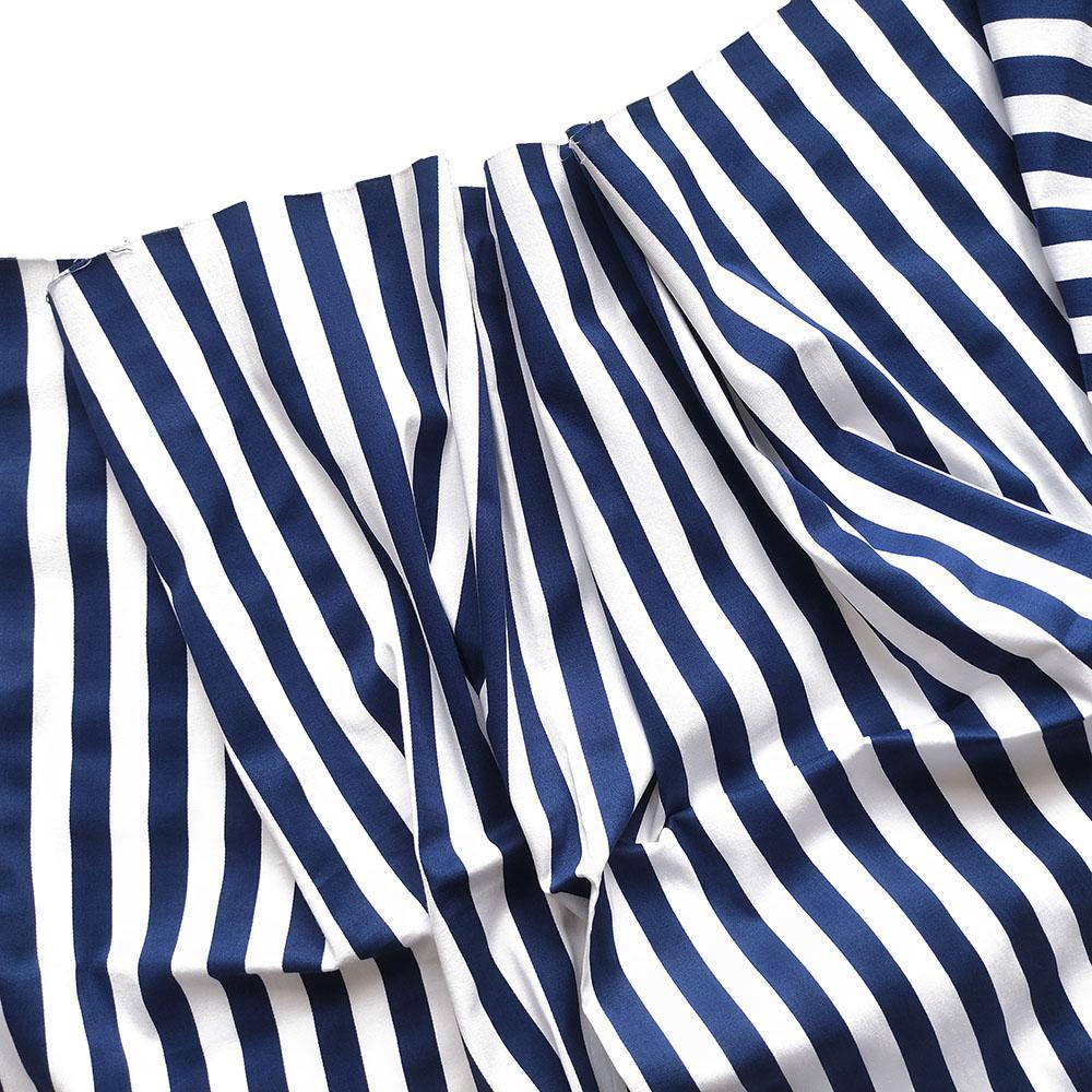 Хлопок-стрейч в синюю полоску (1.4см)