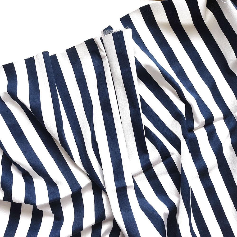 Хлопок-стрейч в синюю полоску (1.8см)